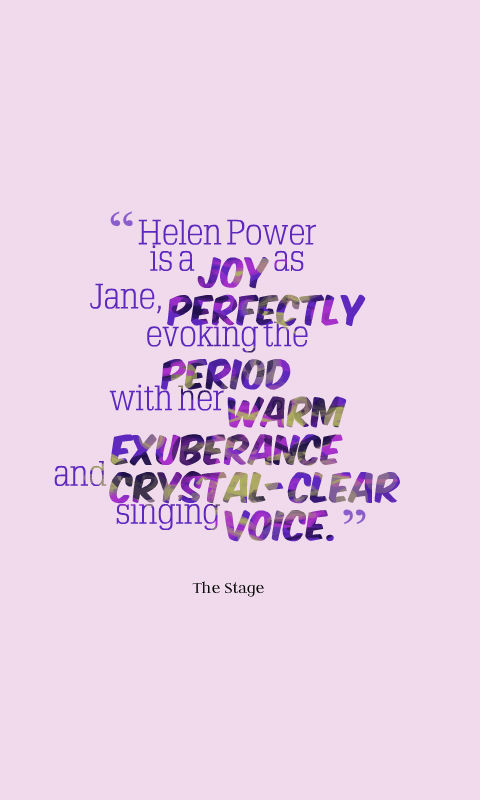Helen Power Jane Salad Days - UK Tour